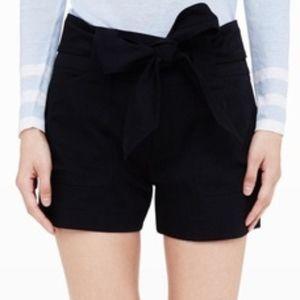 Club Monaco Tie Waist Short, Black, Size 2